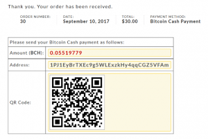 Bitcoin Cash Woo Commerce Plugin